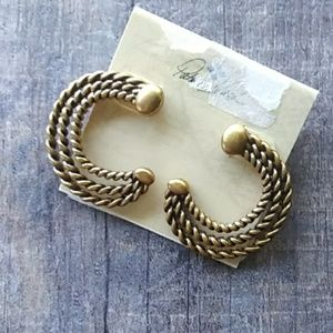 Patricia Nach Quarter Moon Twisted Earrings
